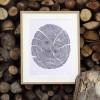 """Kalligrafie - """"Einen alten Baum ..."""" – limitierter Kunstdruck 30 x 40 cm"""
