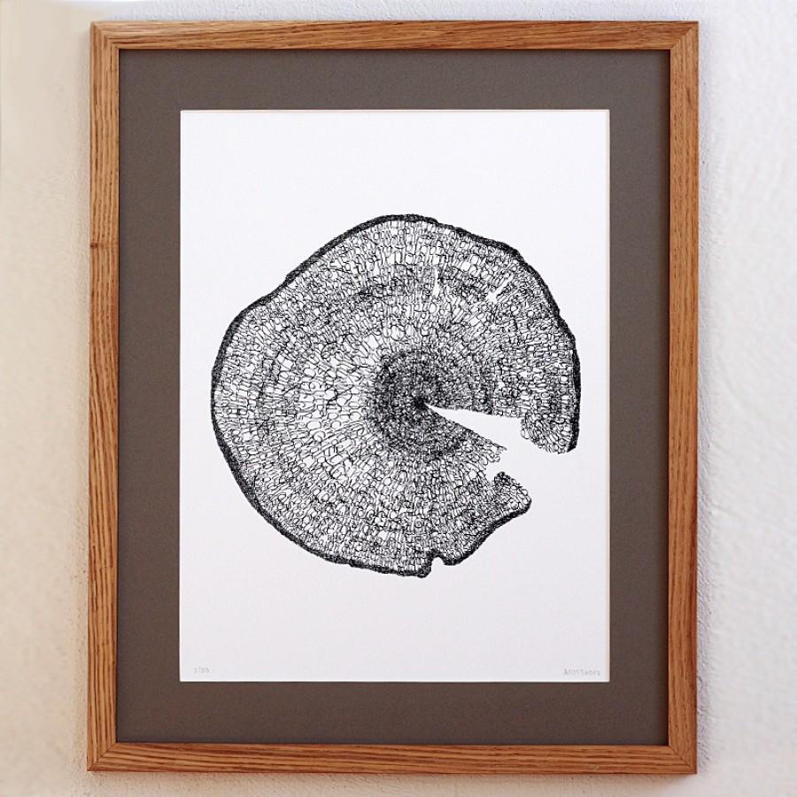 """Kalligrafie - """"Ein Baum der ..."""" – limitierter Kunstdruck 30 x 40 cm"""