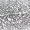 """Kalligrafie - """"Les Arbres aux ..."""" – limitierter Kunstdruck 30 x 40 cm"""