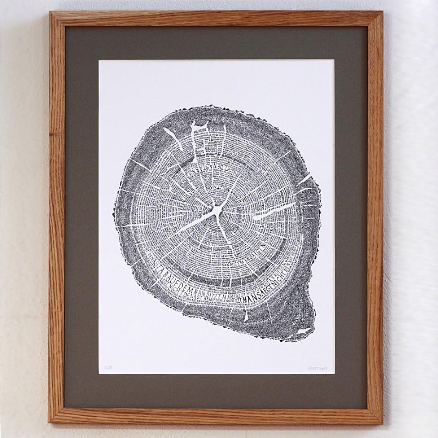 """Kalligrafie - """"Man sägt nicht ..."""" – limitierter Kunstdruck 30 x 40 cm"""